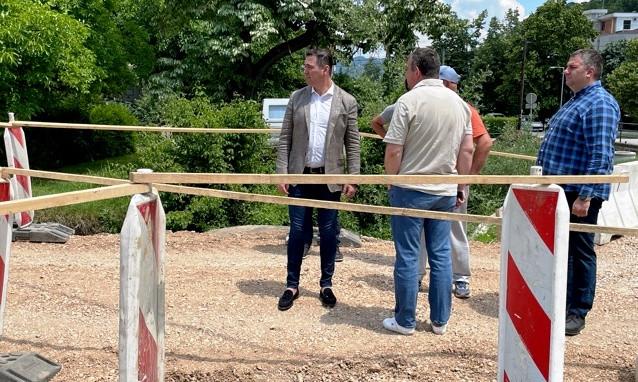 Председник општине обишао радове на новом кружном току